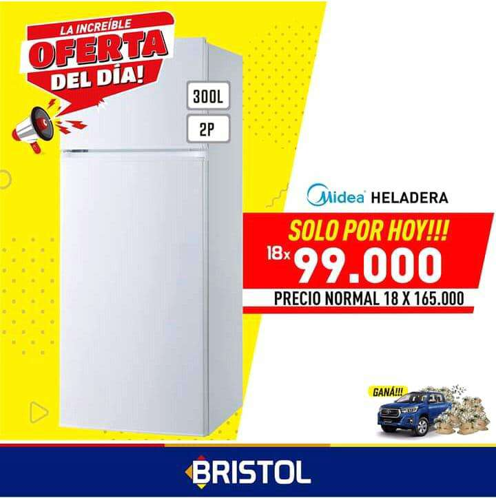 Heladera Midea 300 lts - 0
