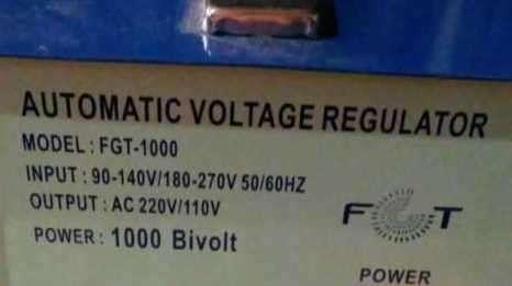 Regulador automático de voltaje - 1
