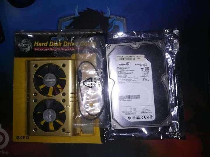 Disco Duro Sata 2 Seagate 360 GB + Cable Sata + Cooler