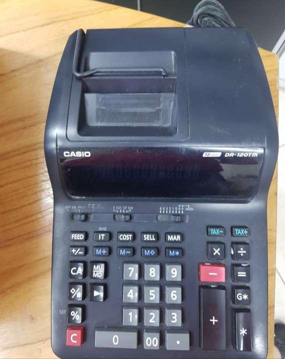 Calculadora Casio de escritorio con bobina de 12 dígitos - 1