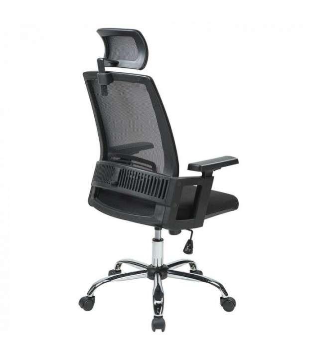 Silla de oficina ergonomica c/ cabezal (hw50192bk) - 0
