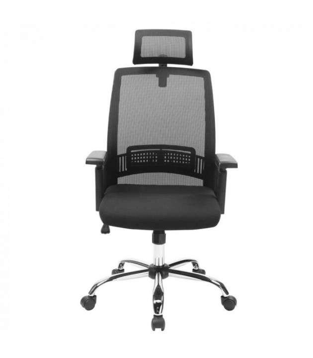 Silla de oficina ergonomica c/ cabezal (hw50192bk) - 1