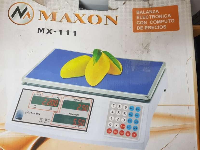 Balanza maxon mx 111 de 40 kilos 2v - 1