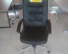 Silla director simil cuero con inclinacion (cb10050bk)