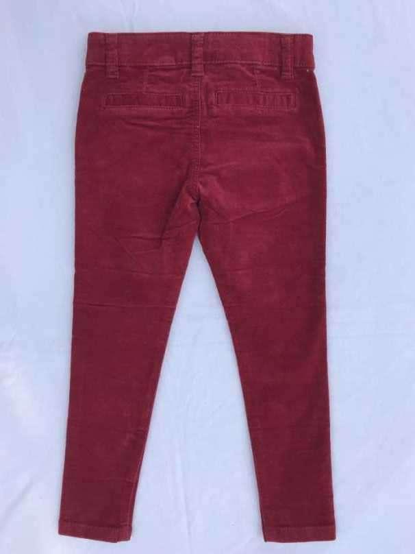 Pantalón nena invierno talla 4 años rojo de pana - 1