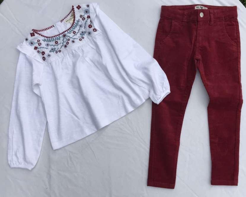 Blusita manga larga y pantalón nena - 1