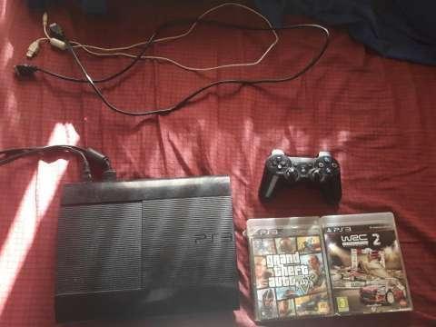 PS3 super slim con un control y 2 juegos - 0