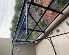 Tendedero de balcón con 8 cordeles