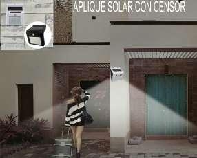 LED solar aplique de pared con sensor de movimiento