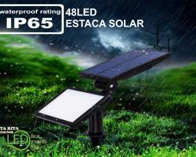 Estaca LED solar jardín