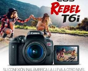 CAMARA CANON T6i kit lentes 18-55mm