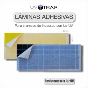 Lámina adhesiva para trampa de insectos con luz ultra violeta