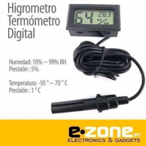 Mini termómetro higrómetro lcd digital
