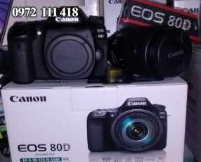 Cámara canon eos 80d kit lente 18-135 usm