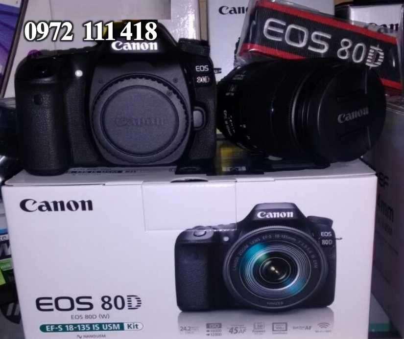Cámara canon eos 80d kit lente 18-135 usm - 0