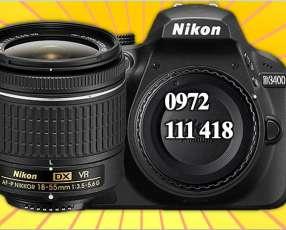 Cámara Nikon D3400 Dslr -24.2 mp lente 18-55mm