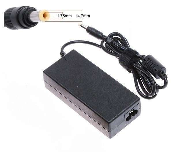 Cargador mini Notebook hp 19v 2.1 pin negro y amarillo - 0