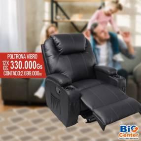Sofa Poltrona Reclinable c/Vibromasajeador