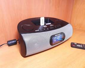 Radio fm con reloj y adaptador bluetooth