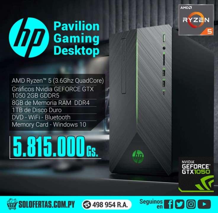 Computadora HP Pavilion gaming desktop - 0