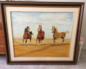 Cuadro de caballos de Artista conocida !.