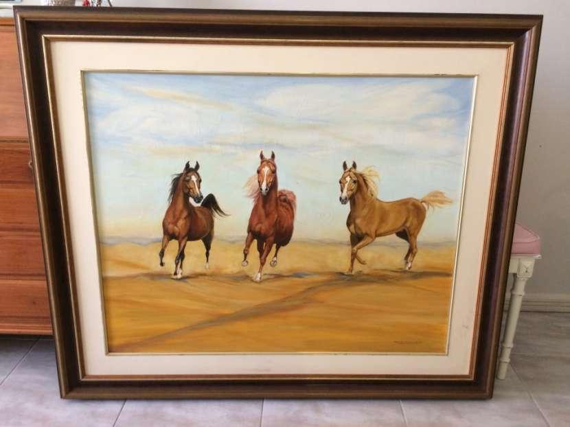 Cuadro de caballos de Artista conocida !. - 0