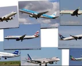 Aeronaves modelo ejecutivo en vuelo