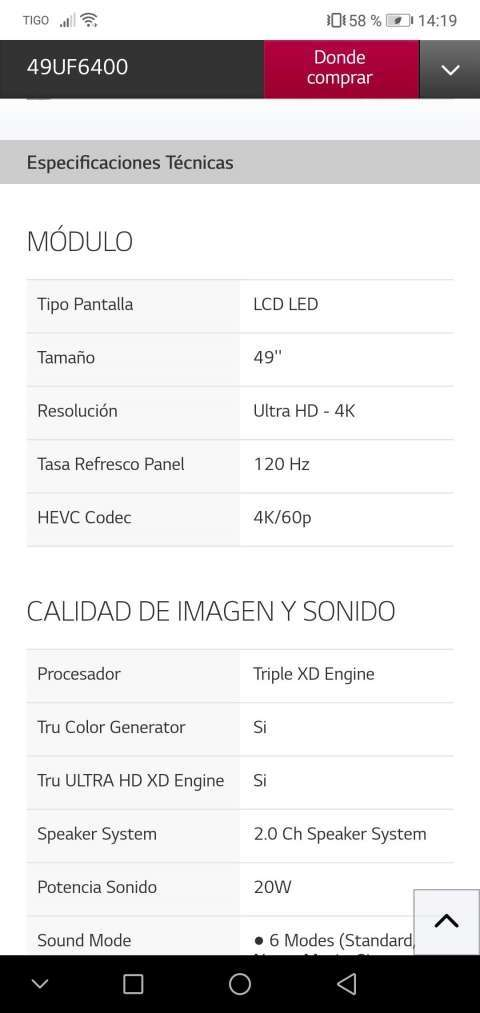 Tv smart LG 49 pulgadas 4K Ultra HD - 5