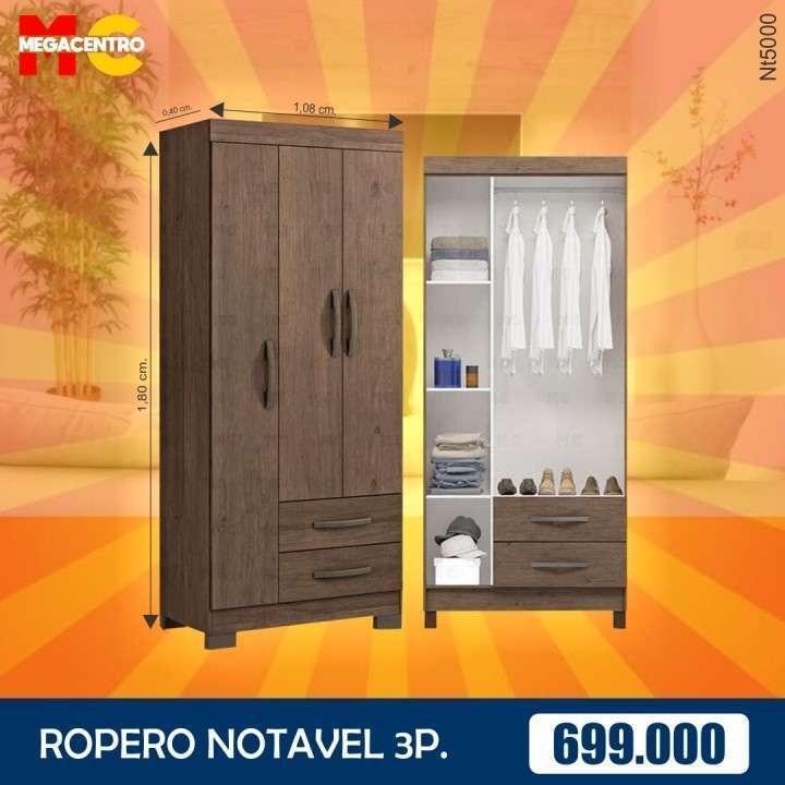 Ropero 3 puertas notavel café - 1