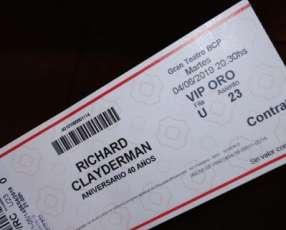 Entrada VIP oro para ver a Richard Claydermann