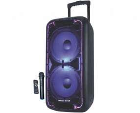 Parlante karaoke 2x10 con micrófono inalámbrico