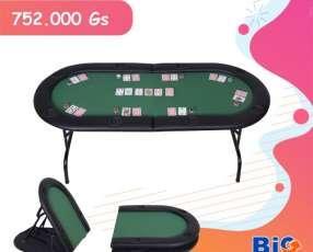 Mesa de Póker Plegable para 8 jugadores