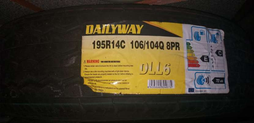 Cubierta 195 R14 para carga - 1