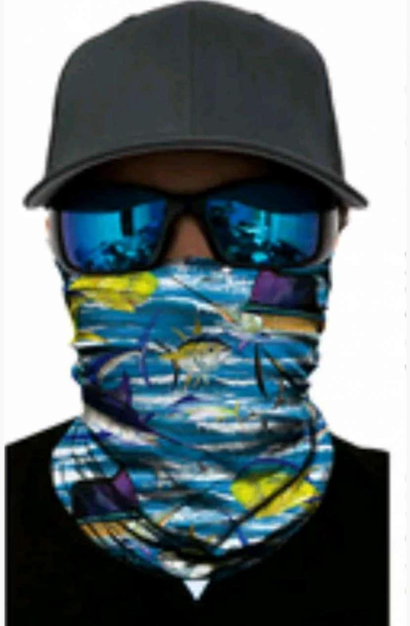Protector facial con rayos UV para motociclistas, pescadores - 0