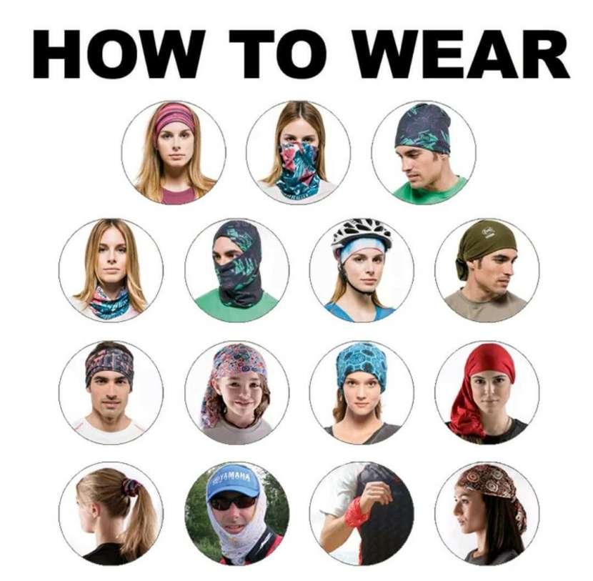 Protector facial con rayos UV para motociclistas, pescadores - 3
