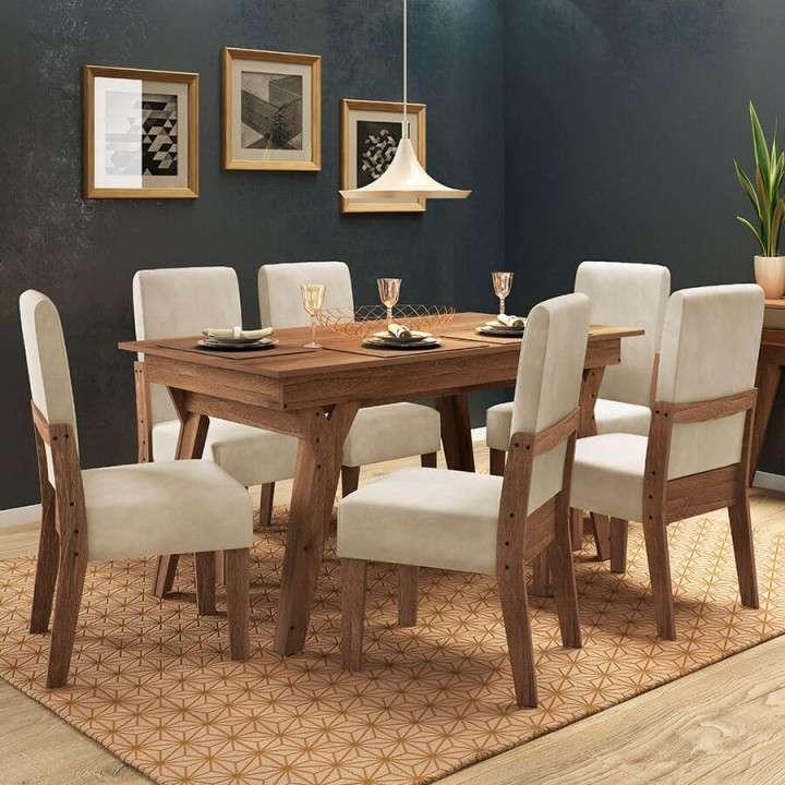 Mesa comedor con 6 sillas - 0