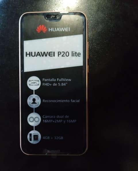 Huawei p20 lite sin tanto uso color rosa 32GB - 0