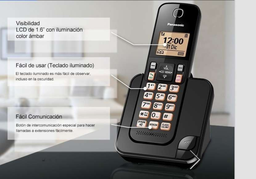 Teléfono Inalámbrico Panasonic - 0