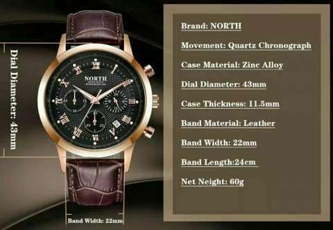 Reloj North con cronógrafo militar - 4