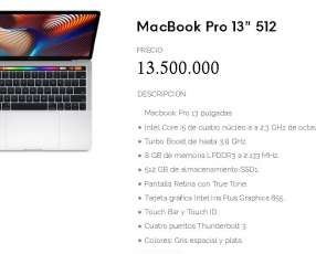 "MacBook Pro 2018 13"" 512GB SD"