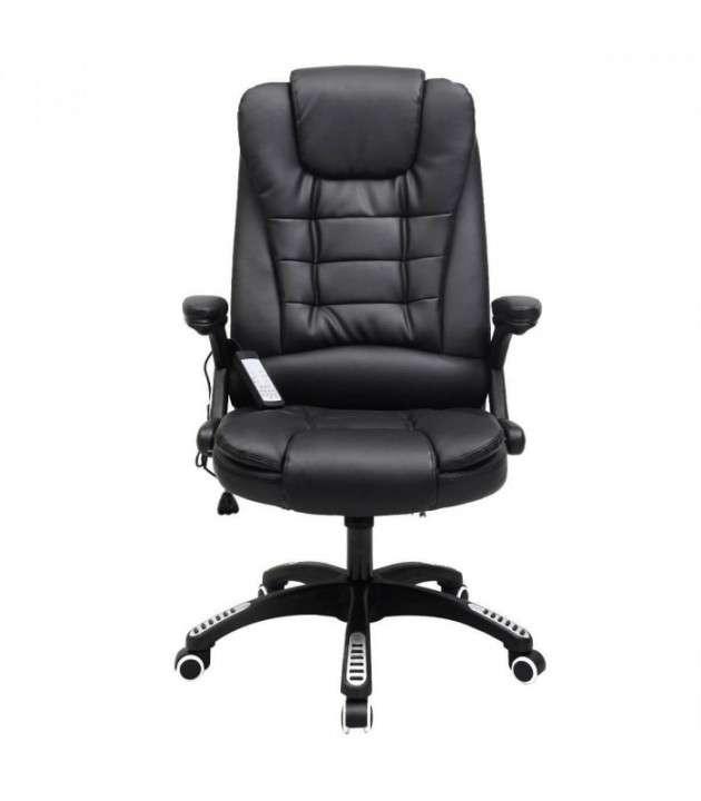 Silla de oficina tipo ejecutiva con masajeador negra - 0
