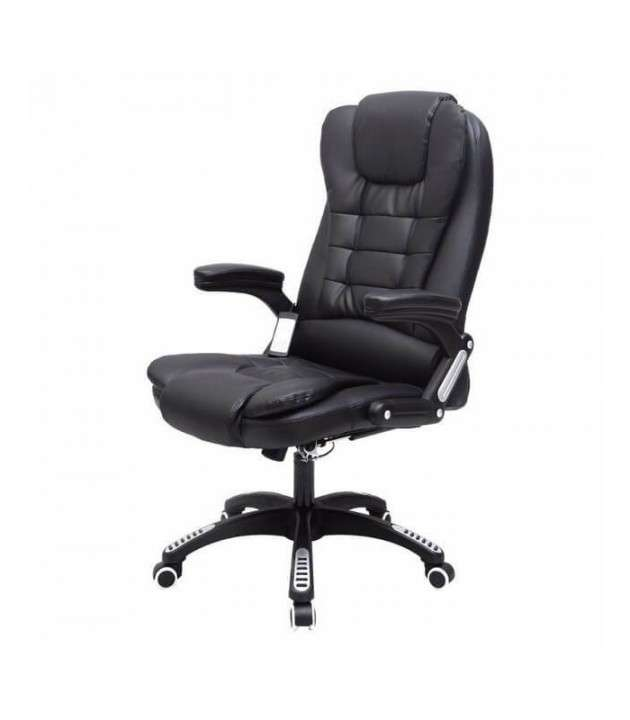 Silla de oficina tipo ejecutiva con masajeador negra - 1