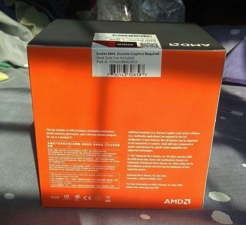 Procesador AMD Ryzen 5 1600 con cooler - 2