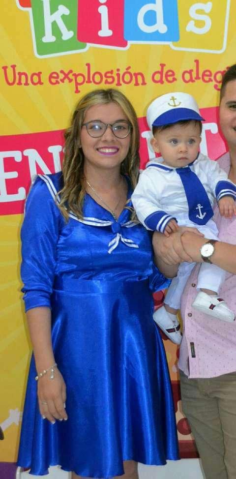 Vestido y traje madre e hijo marinero - 0