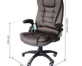Silla de oficina con vibro masajeador (HW5039BK)