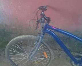 Bicicleta milano repintado en azul