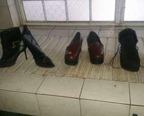 Zapatos y bota de cuero