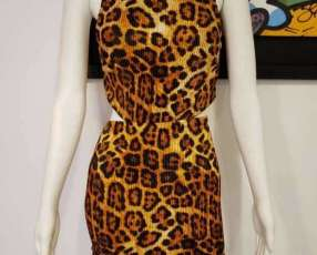 Vestido animal print estampado