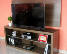 Rack + panel bahia para tv de hasta 43