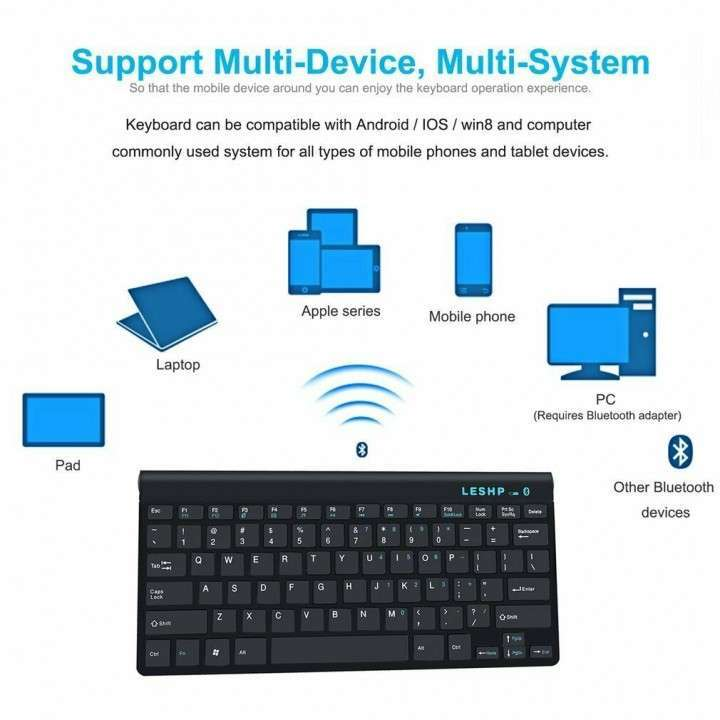 Teclado Bluetooth para Android iOs Windows Wireless - 0